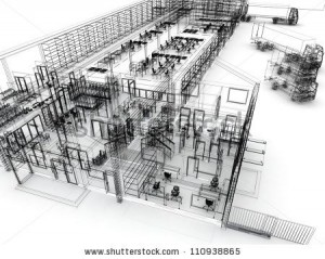 stock-photo-factory-with-offices-warehouse-and-shipping-service-computer-generated-visualization-in-sketchy-110938865